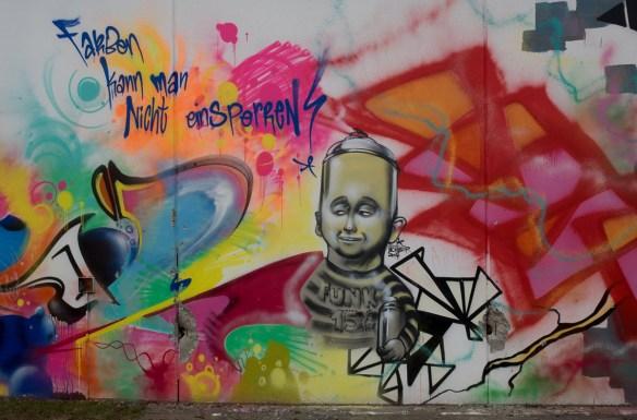Graffiti JVA Frankfurt Höchst