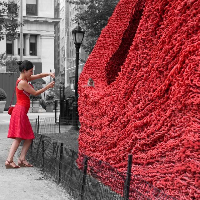 New York, Something in red