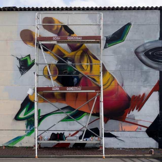 Graffiti Gelnhausen Lack & Lines 2016 WIP