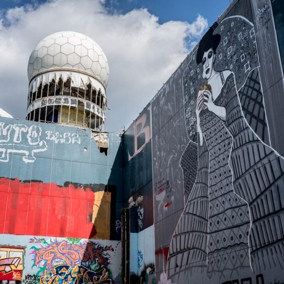 Berlin Graffiti und Streetart auf dem Teufelsberg