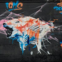 Graffiti am JUZ Bingen