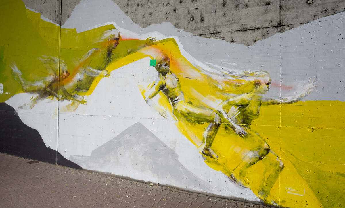 Graffiti in Frankfurt Griesheim - Kunstprojekt Bunte Brücke