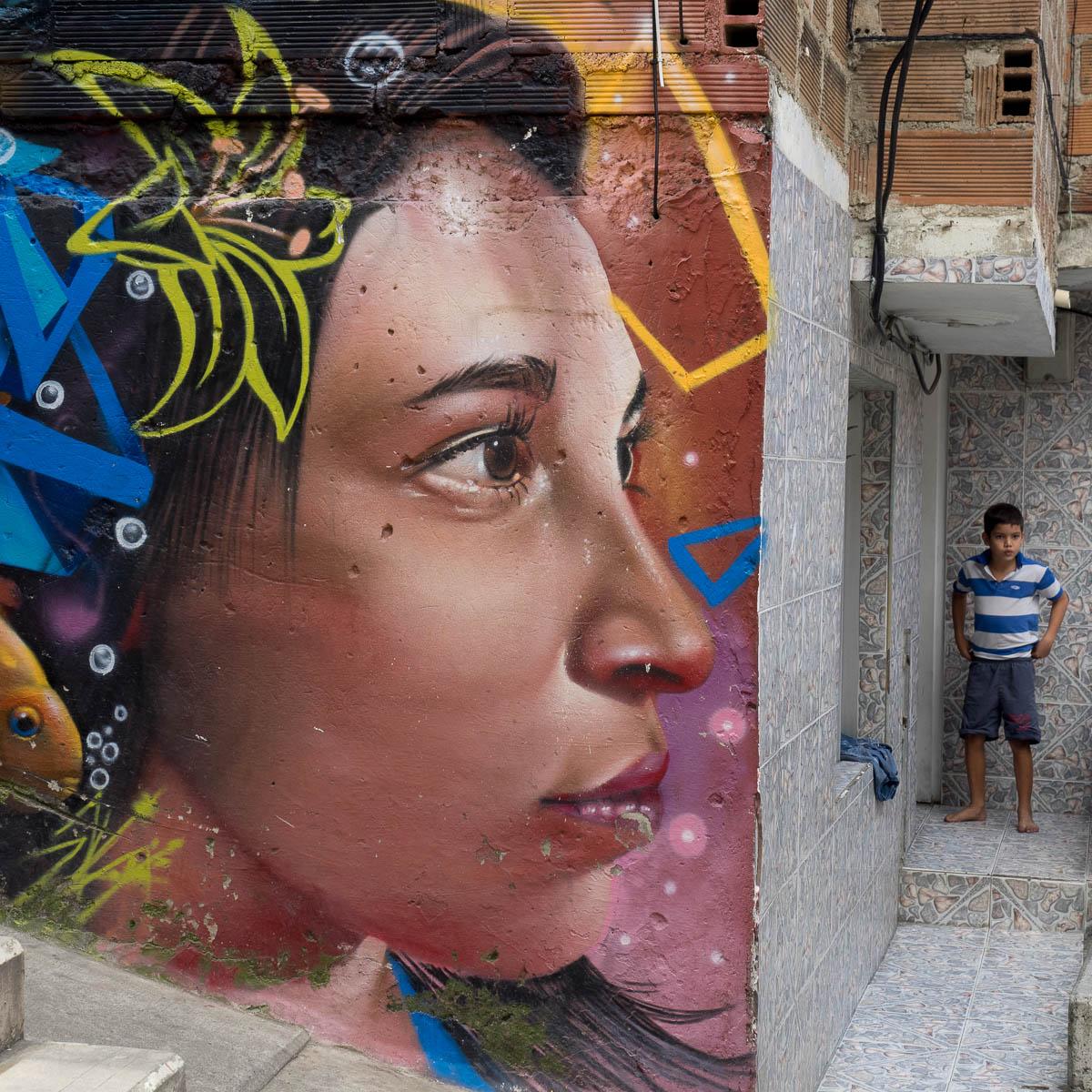 Unterwegs in Kolumbien 2017 (Part 06) - Comuna 13 in Medellin