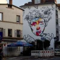 Graffiti in Frankfurt - Mural von Cor im Sandweg