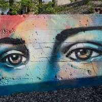 Graffiti von Alice Pasquini in Raunheim - Widerstand gegen die Nazis: Sophie & Hans Scholl & Christoph Probst