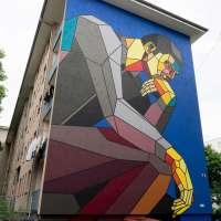 """Graffiti in Mannheim #04 - Die Murals von Stadt.Wand.Kunst - Aske """"The modern thinker"""""""