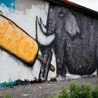 Graffiti in Bad Vilbel - Hall of fame am Bahnhof 2018