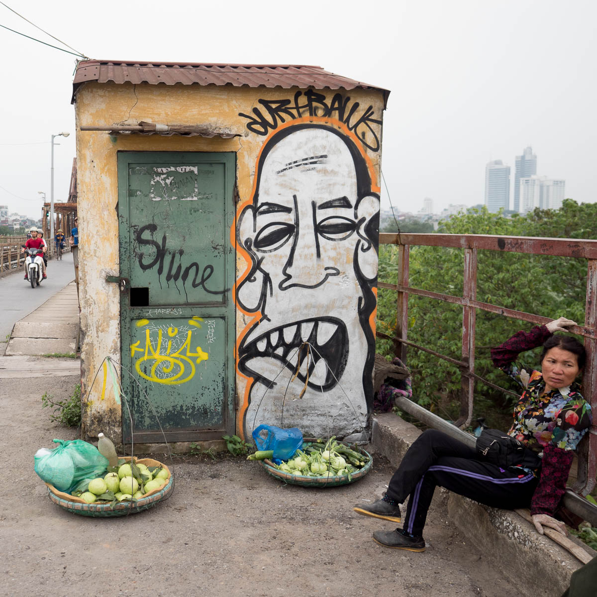 Reise durch Asien 2019 #12 Graffiti in Hanoi