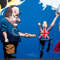 Graffiti in Frankfurt - Brexit-Motiv von Embe im Osthafen