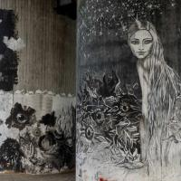 Graffiti in Flörsheim unter der Opelbrücke