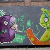 Graffiti an der Naxoshalle in Frankfurt (03/2020)