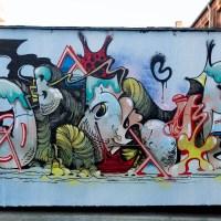 Graffiti an der Naxoshalle in Frankfurt (05/2021)