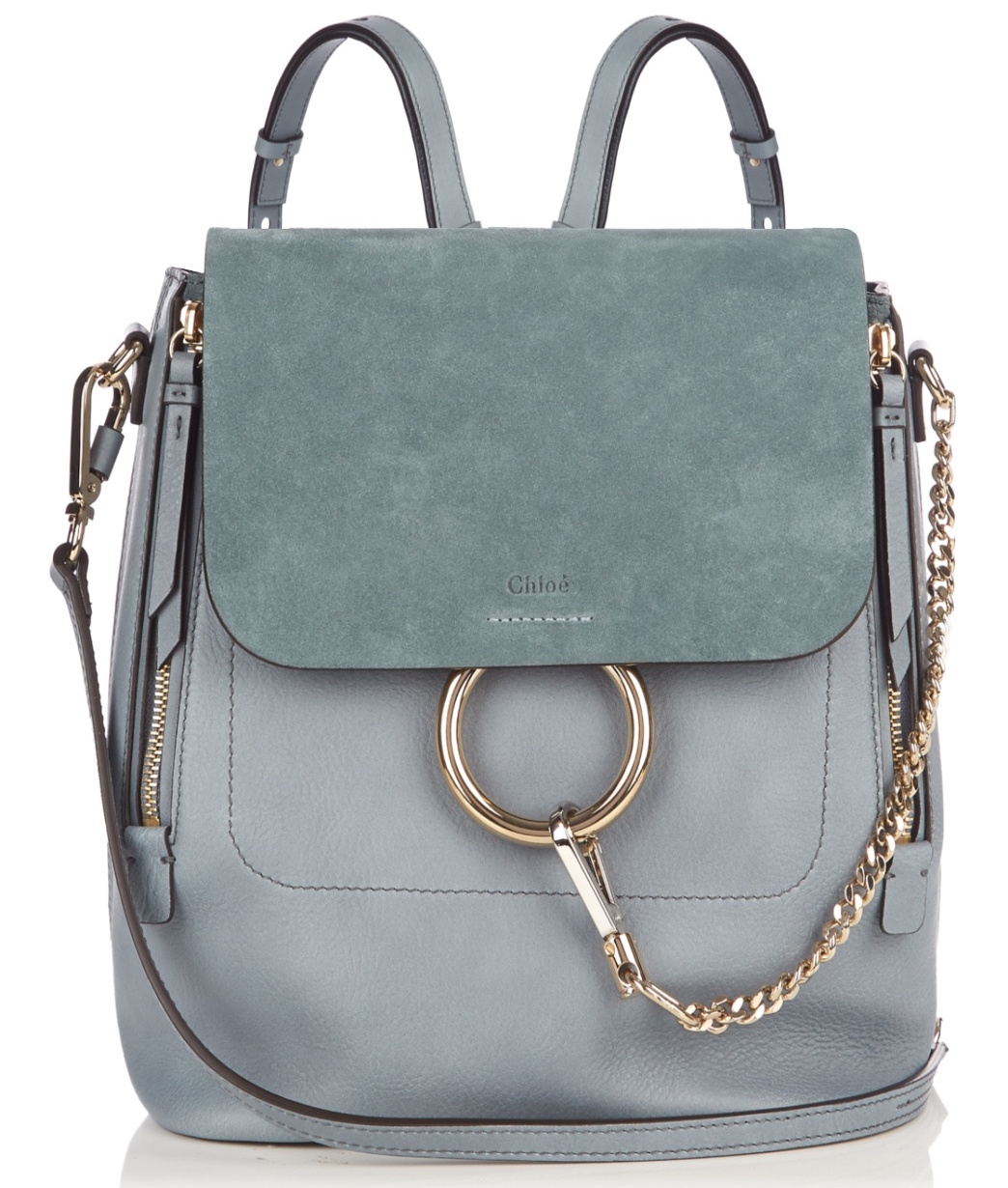 Chloe-Slate-Blue-Medium-Faye-Backpack-Bag current beauty and fashion Wishlist