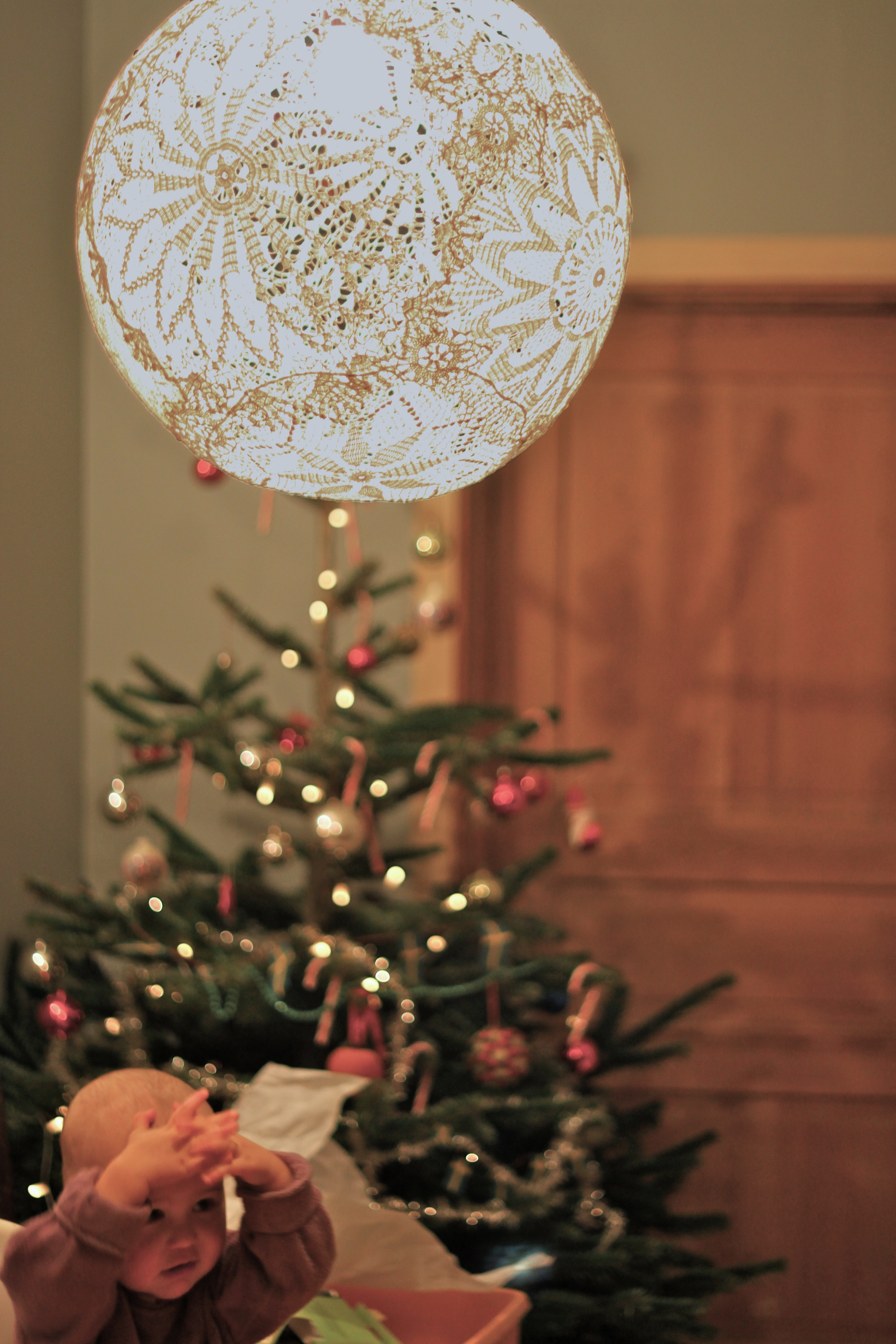 Lace lampDoiliy Lamp – DIY – Dos Family