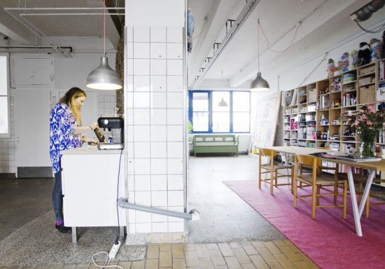 This is Lisa Grues studio at the meat packing district in Copenhagen