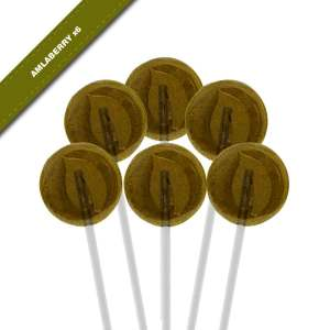 6-pack view of Dosha Pops' Amlaberry lollipops