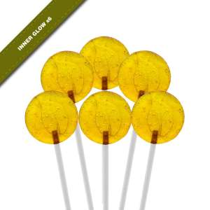 6-pack view of Dosha Pops' Inner Glow lollipops