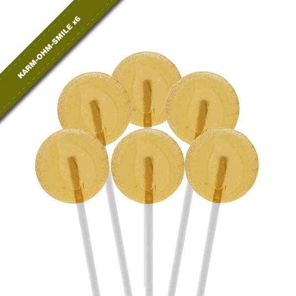 6-pack view of Dosha Pops' Karm-Ohm-Smile lollipops