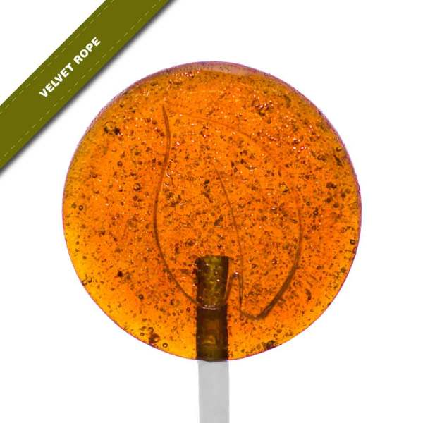 Single view of Dosha Pops' Velvet Rope lollipop