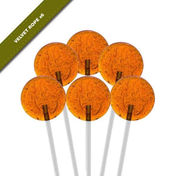 6-pack view of Dosha Pops' Velvet Rope lollipops
