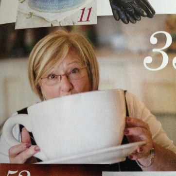 Marsha with Big Mug