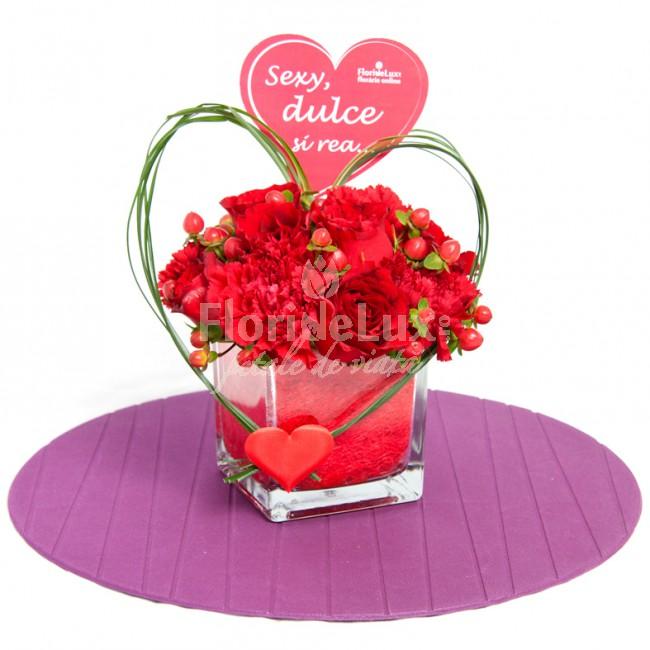ziua indragostitilor flori romantice