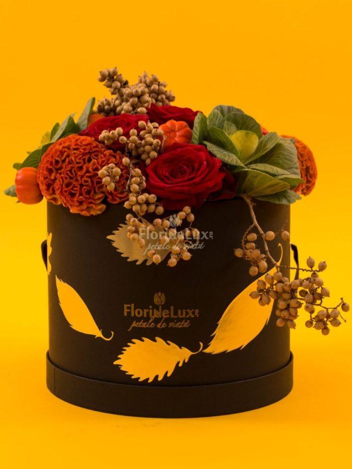 cutii cu flori de lux, cutii cu flori de toamna