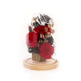 Trandafiri criogenati Golden Flame, doar 309,99 RON!