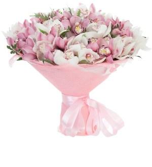 Buchet orhidee roz si orhidee alba, doar 503,10 RON