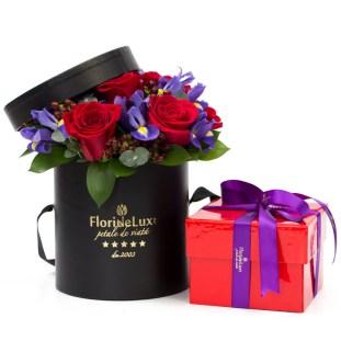 Flori de Constantin si Elena, Cadou elegant, cu flori si ciocolata, doar   494,99 RON