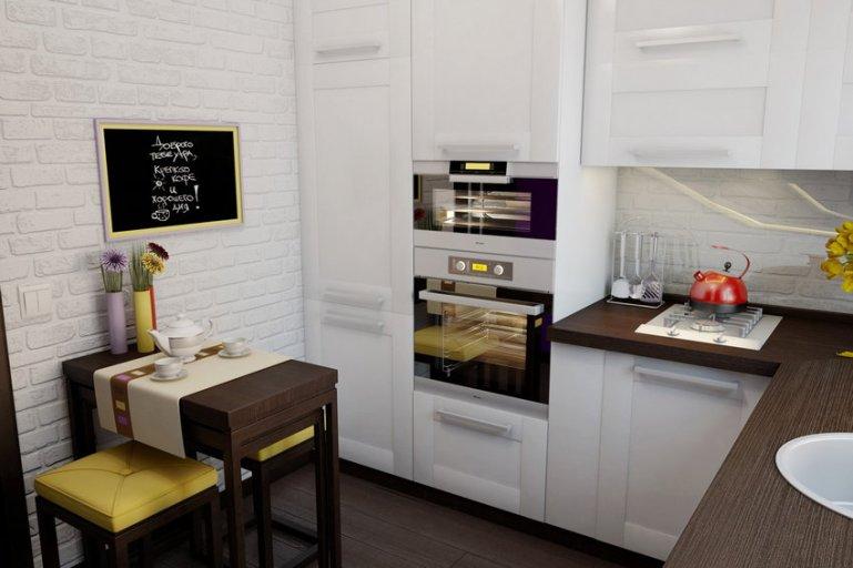 Как увеличить пространство маленькой кухни: 7 идей