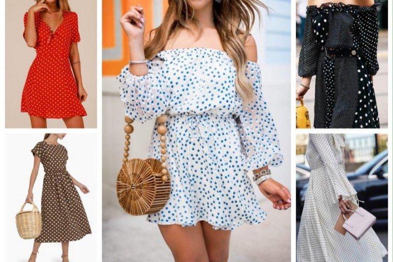 Платье в горошек – истинно «гороховое» очарование