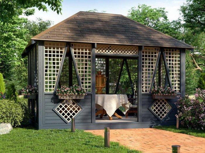 Как построить красивую беседку в саду на даче