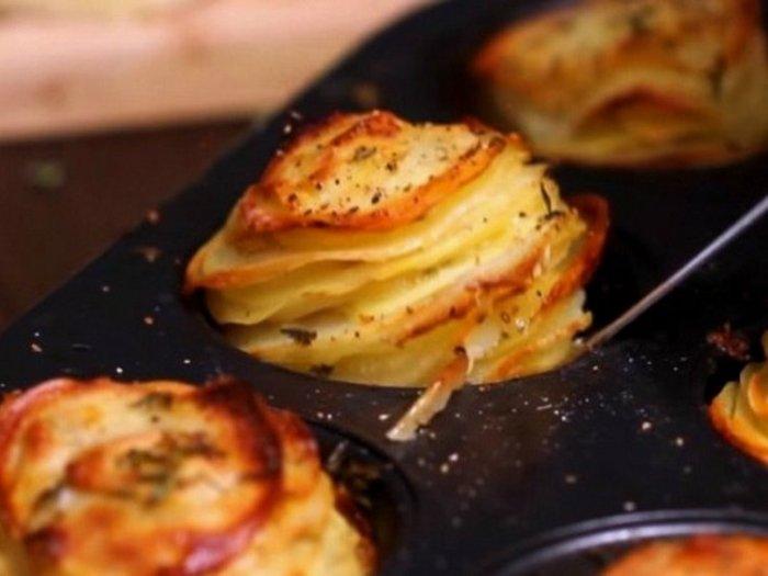Картофель с пармезаном и тимьяном