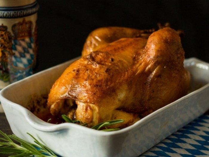Цыпленок корнишон в духовке с гречкой