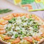 Постная пицца с овощами