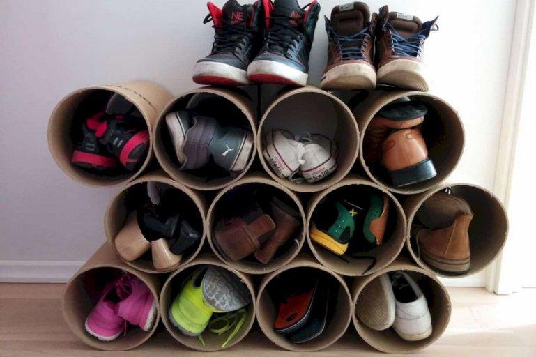 Как сделать обувницу своими руками