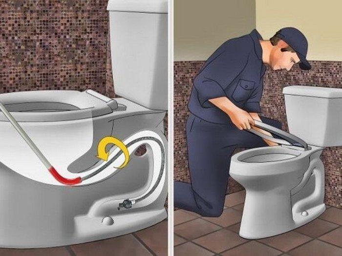 Что делать если у тебя засорился туалет?