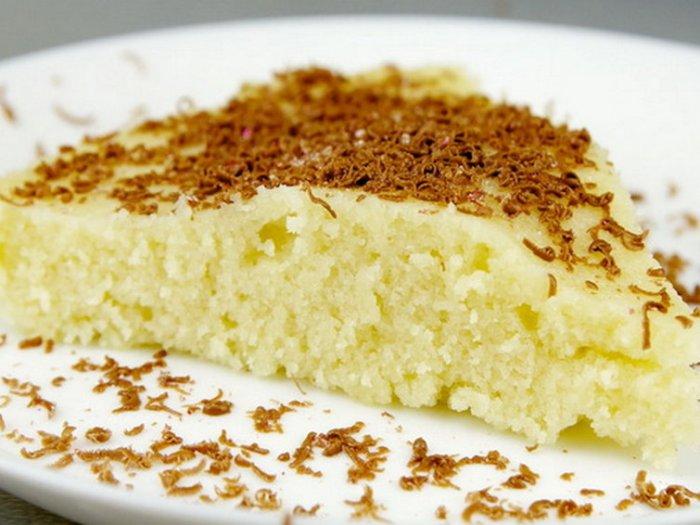 Рецепт замаскированного под бисквит манника без яиц