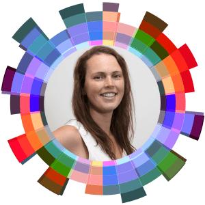 Laura Killam inside the Hub Logo