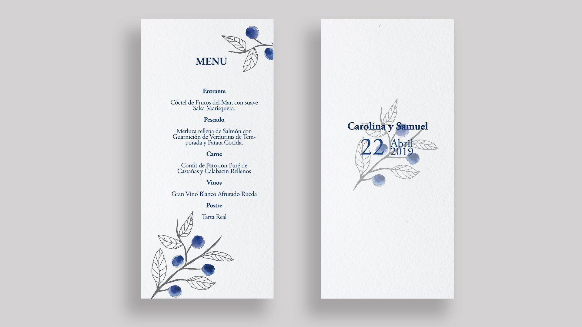 menu moras boda