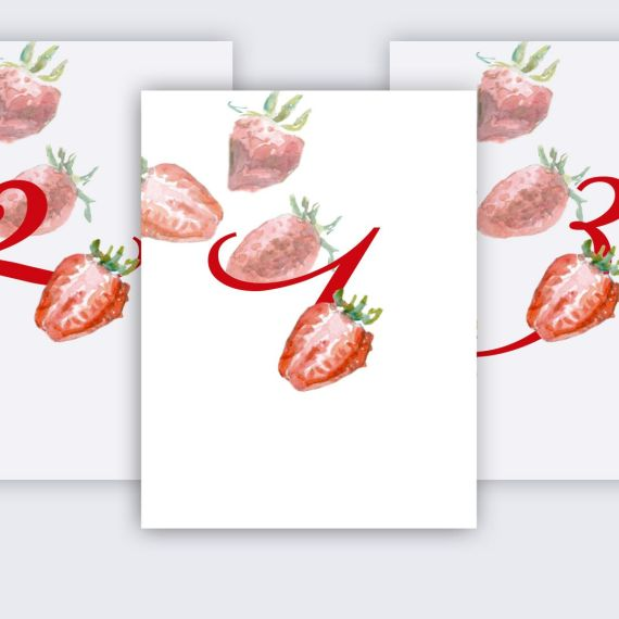 mesero mesa fresas clásicas