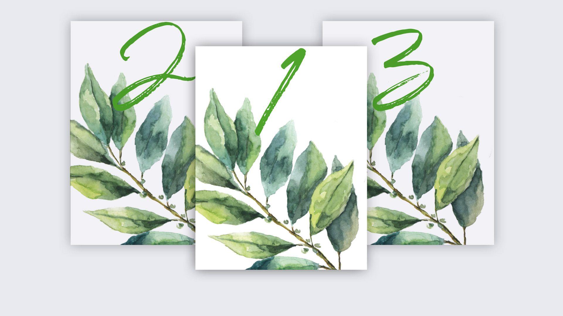 mesero verde hoja invitación boda