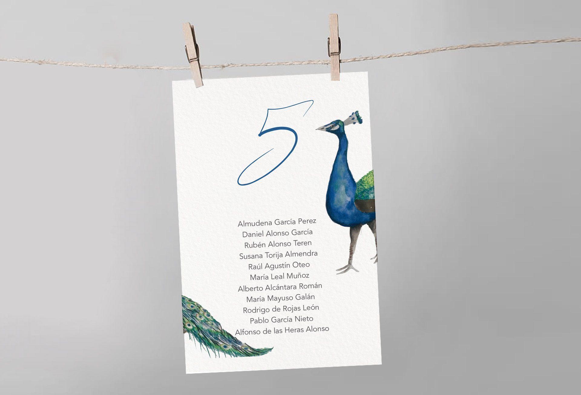 seating pavo real pájaro boda meso