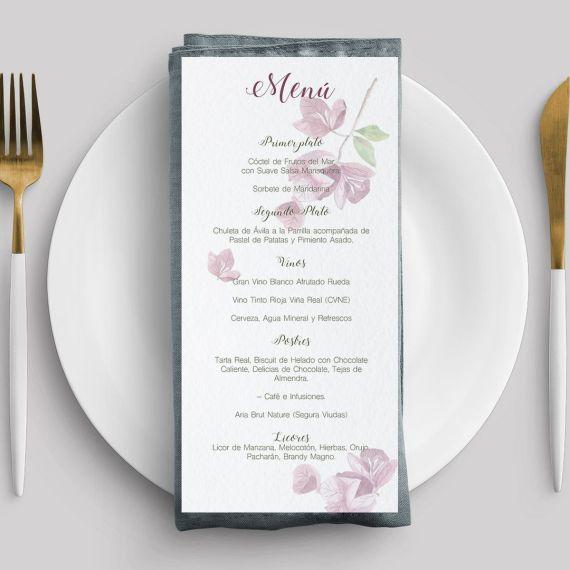 menu buganvilla boda