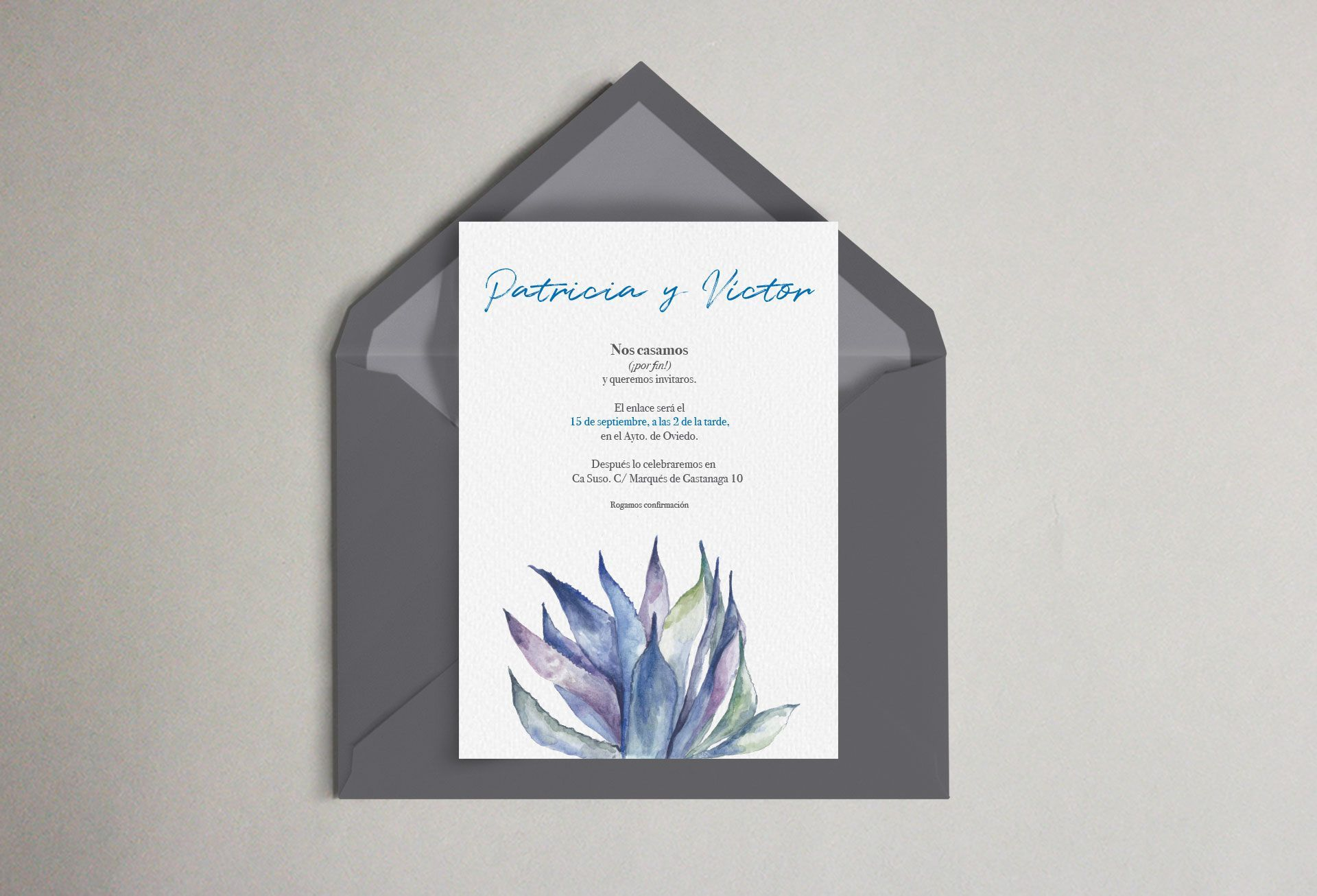 invitación boda cactus mexico