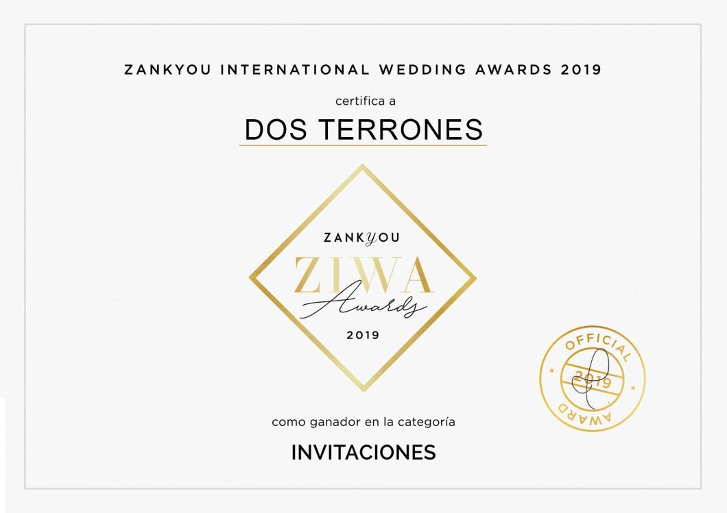 Dos Terrones Ganador del ZIWA Awards 2019