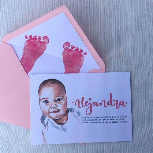 recordatorio artesano y personalizado del bautizo de Alejandra