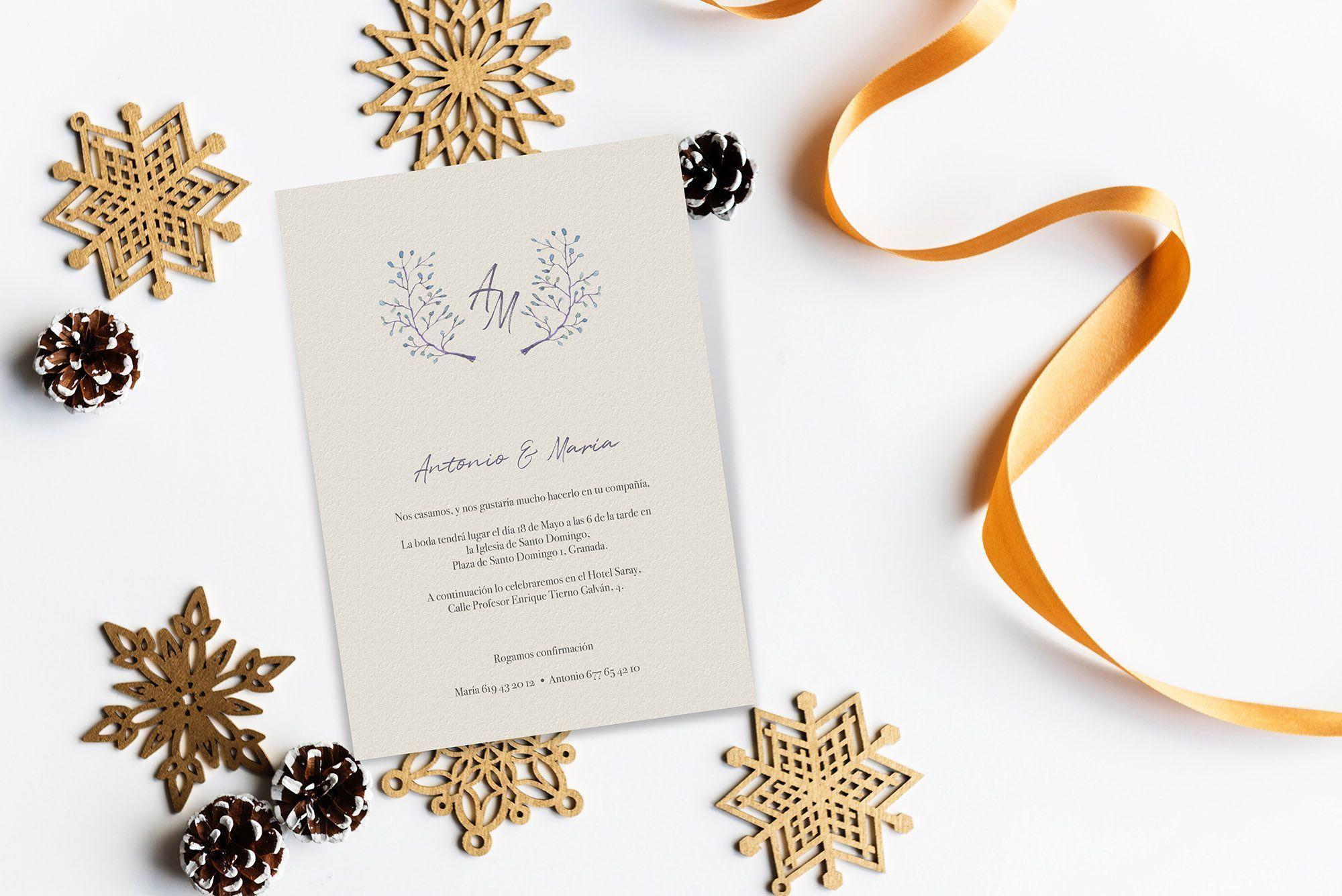 invitaciones de boda navidad el mejor momento