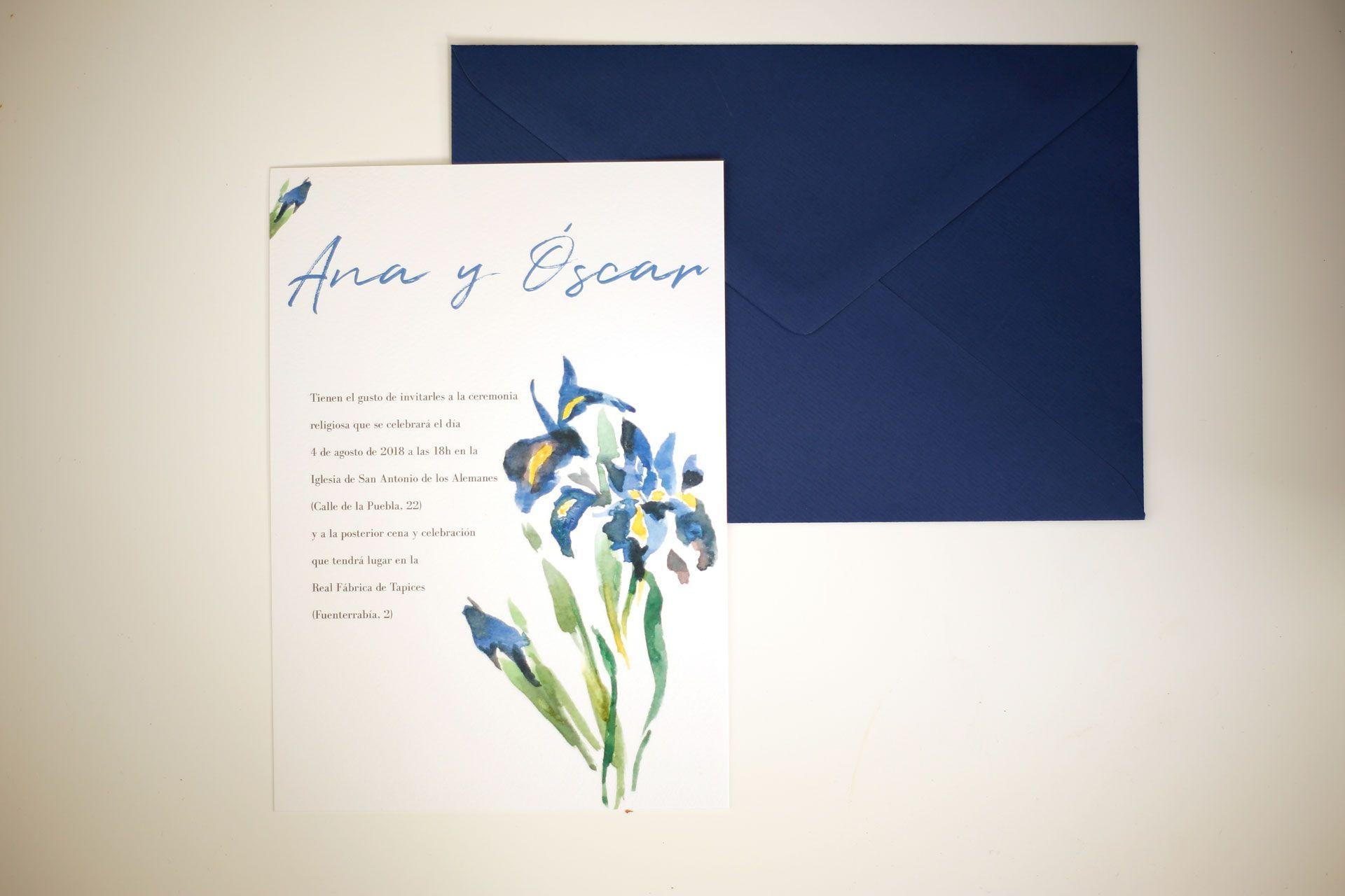 invitacion acureal personalizada ana y oscar